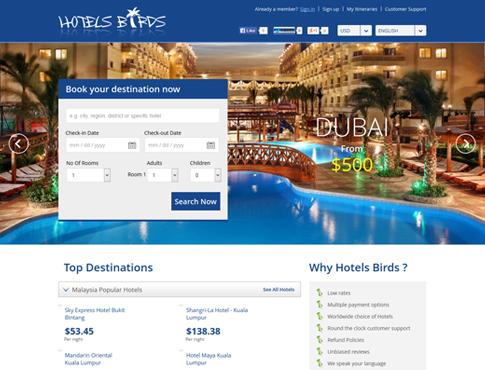 Hotels Birds - Saudi Arabia Hotel Booking Applications