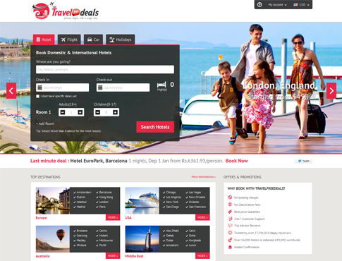 Travel and flight booking