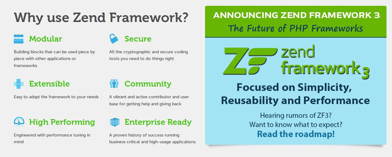 best zend framework for 2017