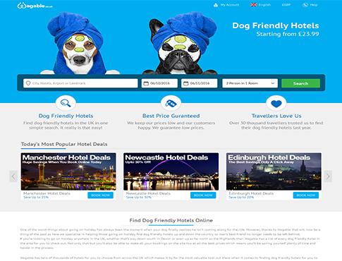 Wagable - Dog Friendly Expedia Hotel Reservation Portal