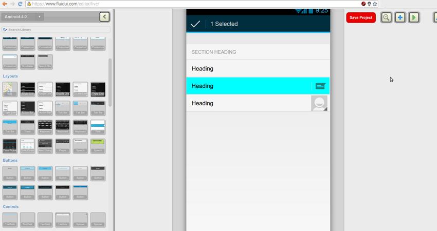 Fluid UI   mobile app prototyping