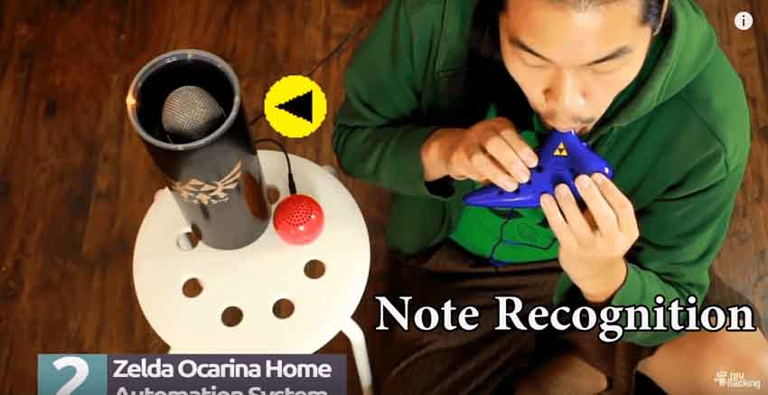 Zelda Ocarina Controlled Home Automation