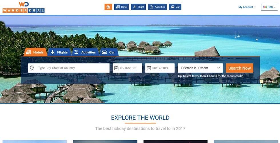 Travel Booking Websites USA - Wanderdeal