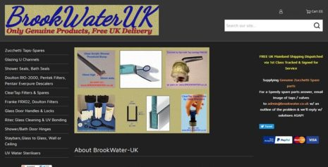 BROOK-WATER – ECOMMERCE WEBSITE FOR BRITISH EQUIPMENT