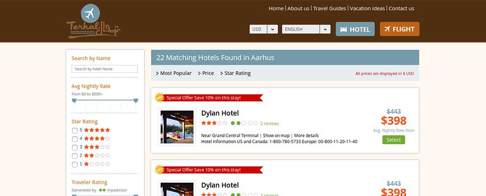 Tarhal_Hotel_List_Page