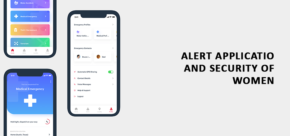Alert application and Security of Women