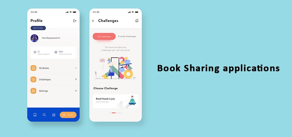 Book Sharing applications