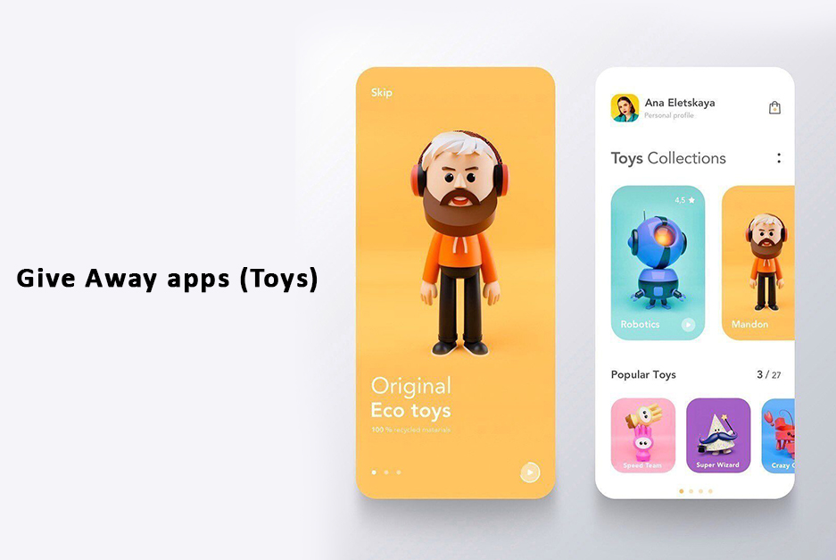 Give Away apps (Toys)