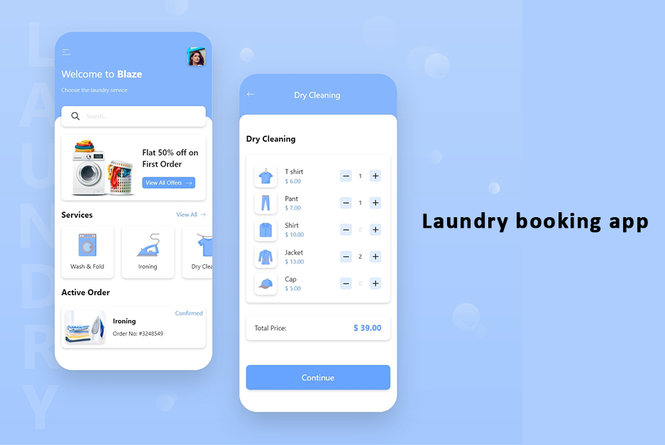 Laundry booking app